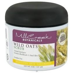 Mill Creek Botanicals Wild Oats Scrub, Natural Exfoliator - 4 oz