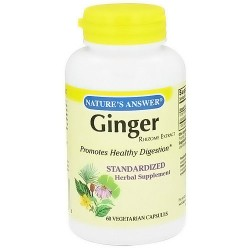 Natures Answer Ginger Rhizome Herbal Supplement Capsules - 60 ea