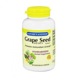 Natures Answer Grape Seed 95% OPCs Extract - 60 Veg Capsules
