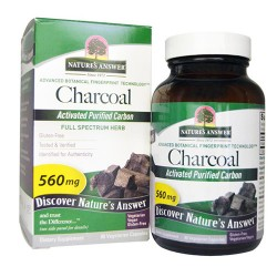Nature's answer charcoal vegetarian capsules - 90 ea