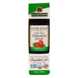 Natures Answer organic essential oil, Geranium - 0.5 oz