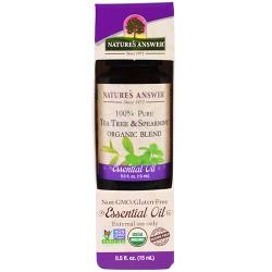 Natures Answer pure tea tree spearmint organic blend essential oil - 0.5 oz