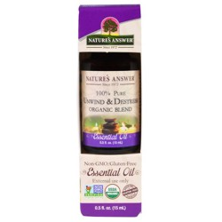 Natures Answer pure unwind and destrees organic blend essential oil - 0.5 oz