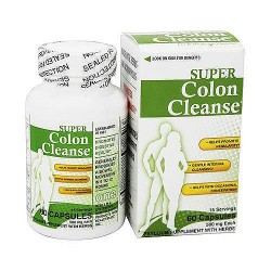 Health Plus Super Colon Cleanse 500 mg Capsules - 60 ea