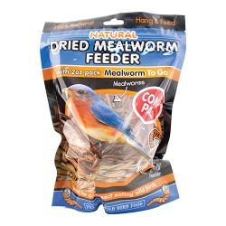 Unipet Usa reed mealworm feeder with 2oz of mealworms - 3.9 ounce, 6 ea