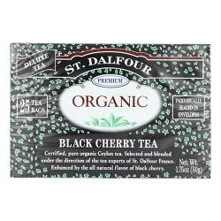 St. Dalfour deluxe organic black cherry tea - 25 tea bags