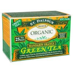 St. Dalfour premium organic green tea, mandarin orange - 25 tea bags