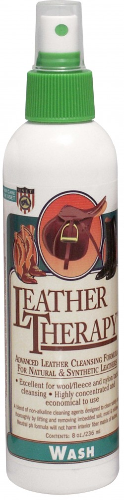W F Young, Inc leather therapy equestrian leather wash - 8 ounce, 12 ea