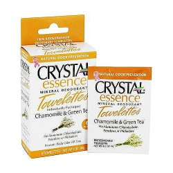 Crystal Essence Chamomile And Green Tea Deodorant Towelettes - 6 ea