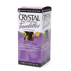 Crystal body deodorant individual towelettes - 24 ea
