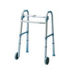 Apex-carex 5 inches fixed walker wheel with glides - 1 ea