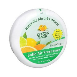 Citrus magic solid air freshener fresh, citrus scent - 8 oz, 6 pack