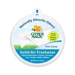 Citrus magic solid air freshener, pure linen - 8 oz