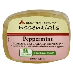 Clearly Natural glycerin soap bar, peppermint - 4 oz