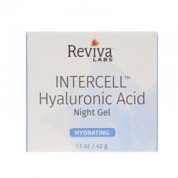 Reviva Intercell Night Face Gel With Hyaluronic Acid - 1.25 oz
