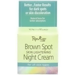 Reviva Brown Spot Skin Lightening Face Night Cream For All Skin Types - 1.5 oz