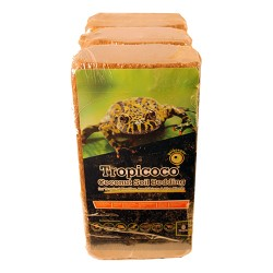 Galapagos tropicoco soil brick natural coconut soil bedding - 8qt/3pk, 6 ea
