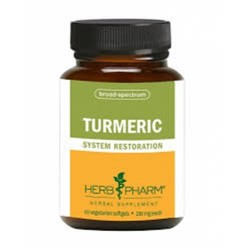Herb pharm turmeric  230 mg  60 vegetarian capsules   -  60 ea