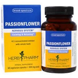 Herb pharm passionflower  400 mg vegetarian capsules   -  60 ea