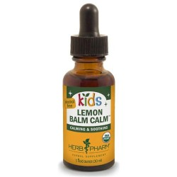Herb pharm Kids lemon balm calm, alcohol free - 4 oz ,12 pack