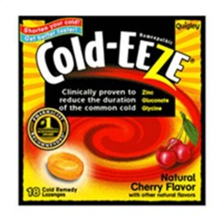 Cold-eeze cough suppressant lozenges, natural cherry flavor - 18 ea