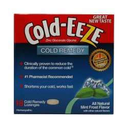 Cold eeze cold remedy lozenges, mint frost - 18 ea