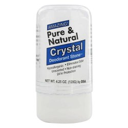 Thai deodorant stone pure and natural crystal push up deodorant - 4 oz
