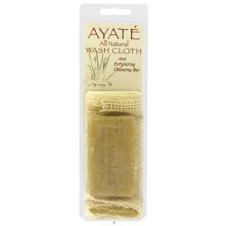 Thai deodorant stone ayate all natural wash cloth with cleansing bar - 1 ea