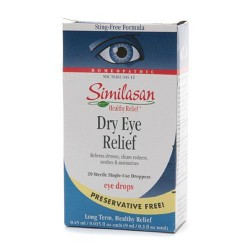Similasan Dry Eye Relief 20 Sterile Single Use Eye Droppers - 0.3 oz