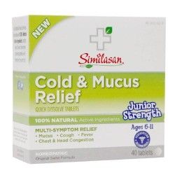 Similasan Jr strength cold and mucus relief tablets - 40 ea