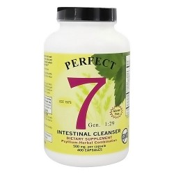 Perfect 7 Intestinal Cleanser Psyllium-Herbal Combination 500 mg - 400 Capsules