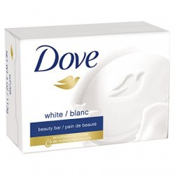 Dove travel size white bar soap for deep moisture - 2.6 oz, 2 ea
