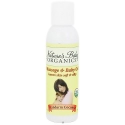 Nature's Baby organicss baby oil leaves skin and soft, Mandarin coconut, 4 oz