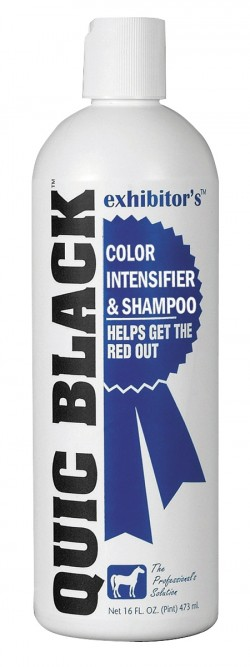 Straight Arrow Products D quic black color intensifier and horse shampoo - 16 ounce, 12 ea