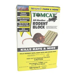 Motomco Ltd D tomcat all-weather rodent block - 4x1 lb block, 4 ea