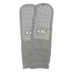 Slipper socks; xxl grey pair men's 1213 - 1 ea