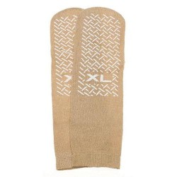 Slipper socks; xl beige pair men's 1012 wms 1113 - 1 ea
