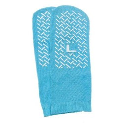 Slipper socks; large sky blue pair men's 79  wms 810 - 1 ea