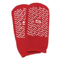 Slipper socks; small red pair child size 46 - 1 ea