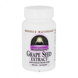 Source Naturals Grape seed extract 200 mg tablets - 90 ea
