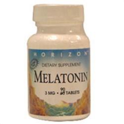 Melatonin 3 Mg Nighttime Sleep Aid Tablets, By Horizon Nutraceuticals - 60 ea