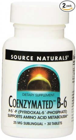 Source naturals coenzymated B-6 sublingual tablets, 25 mg - 30 ea