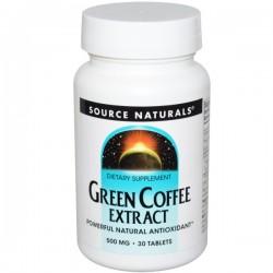 Green coffee extract powerful antioxidant tablets, 500 mg - 30 ea