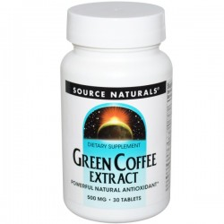 Source naturals green coffe extract energizer tablets, 500 mg - 30 ea