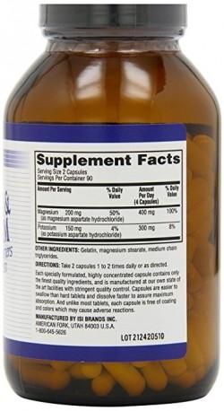 Twinlab cellmins potassium and magnesium capsules - 180 ea