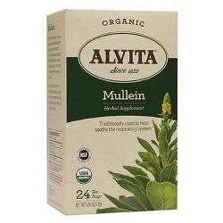 Alvita Organic Herbal Supplement Tea Bags, Mullein - 24 Bags