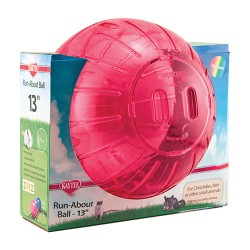 Super Pet- Container run-about ball-rainbow - mega/13 in, 4 ea