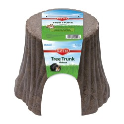 Super Pet- Container natural tree stump hideout - large, 6 ea