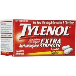 Tylenol extra strength acetaminophen 500 mg caplets - 3 ea