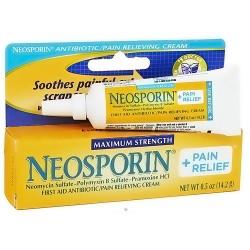 Neosporin plus pain relief maximum strength antibiotic cream - 0.5 Oz